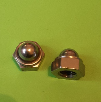 M10 Nylon Locking Dome Nut Stainless (2 Pack)
