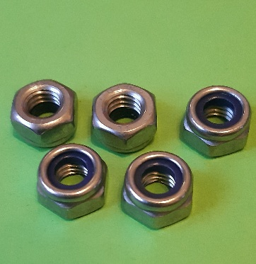 M6 Nylon Locking Full Nut Stainless (5 Pack)