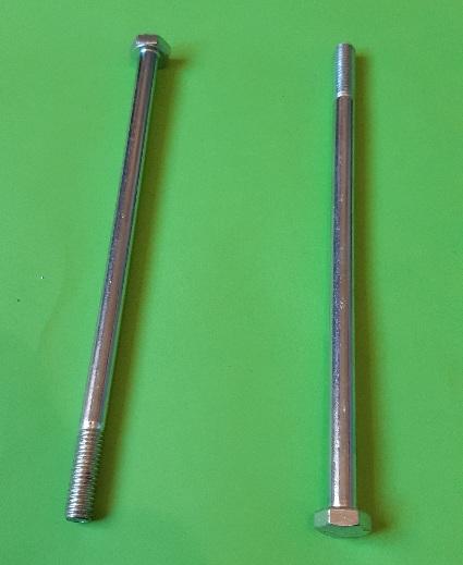 M6 x 125 Long Hex Hd Bolt Zinc Plate (2-Pack)