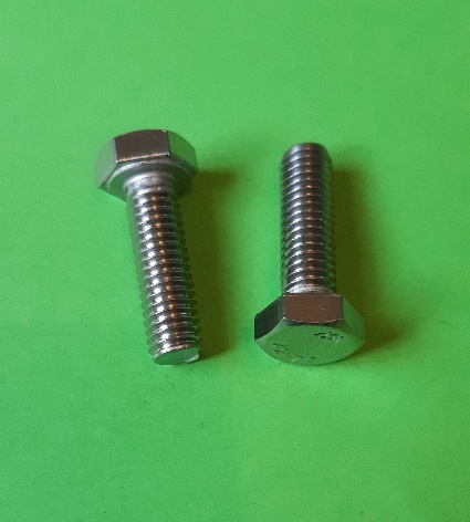M6 x 20 Long Hex Hd Screw Stainkess (2-Pack)