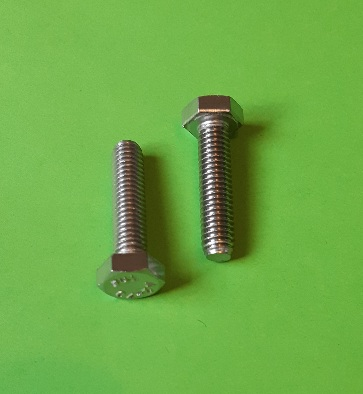 M6 x 25 Long Hex Hd Screw Stainless (2-Pack)