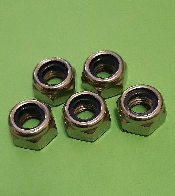 M8 Nylon Locking Full Nut Stainless (5 Pack)