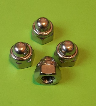 M8 Nylon Locking Dome Nut Stainless (4 Pack)
